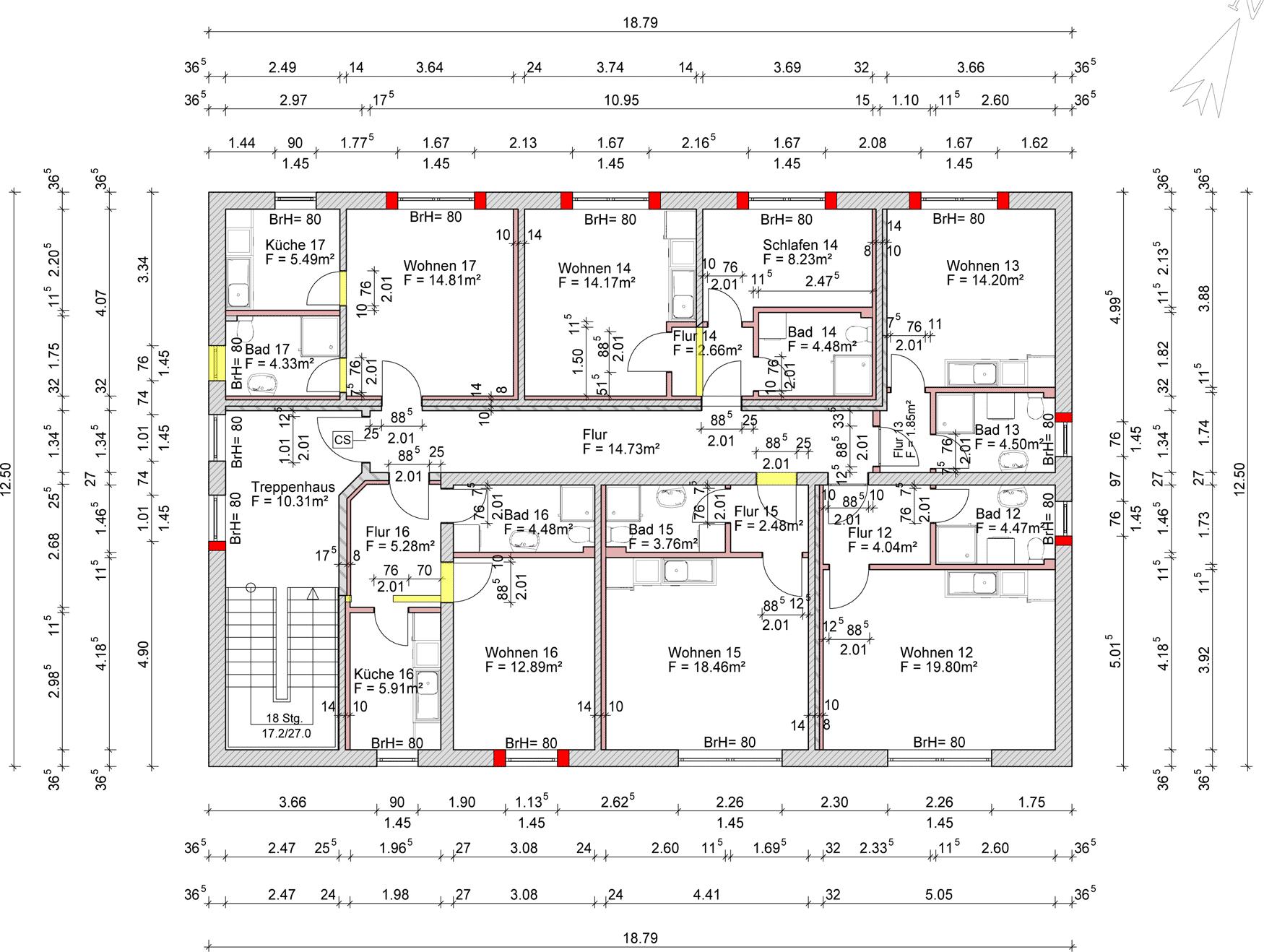 Treppenhaus grundriss mehrfamilienhaus  Studentenappartements in Uni-Nähe mit sehr guter Rendite 6 ...